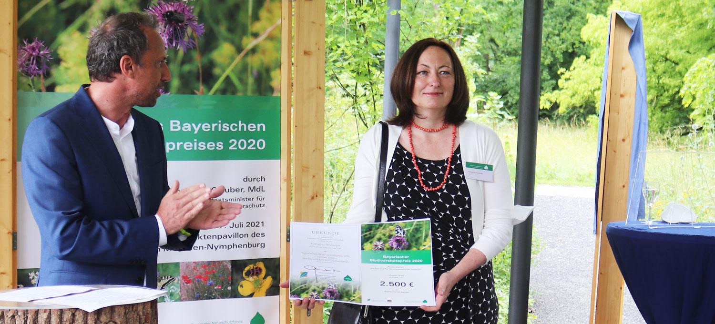 Wilder Meter gewinnt Bayerischen Biodiversitätspreis